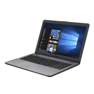 X542UA-8130G ノートパソコン VivoBook 15 ダークグレー [15.6型 /intel Core i3 /HDD:1TB /SSD:128GB /メモリ:4GB /2018年6月モデル]