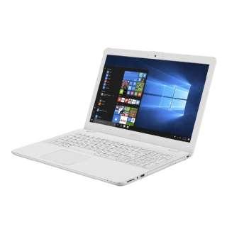 X542UA-8130W ノートパソコン VivoBook 15 ホワイト [15.6型 /intel Core i3 /HDD:1TB /SSD:128GB /メモリ:4GB /2018年6月モデル]