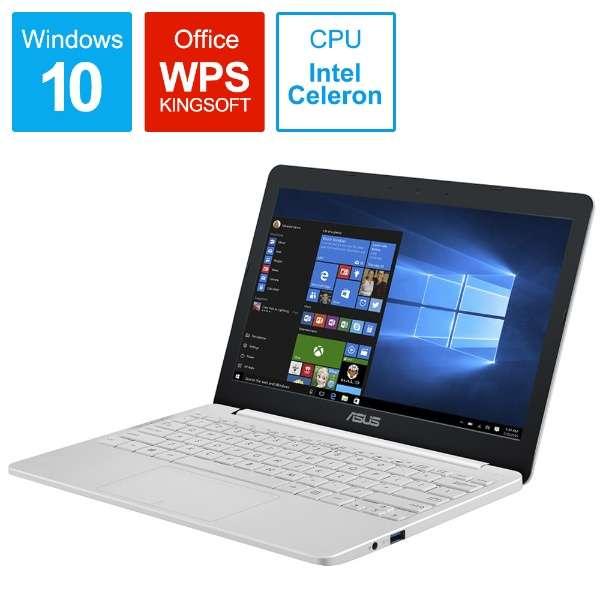 ノートパソコン パールホワイト E203MA-4000W [11.6型 /intel Celeron /eMMC:64GB /メモリ:4GB /2018年6月モデル]