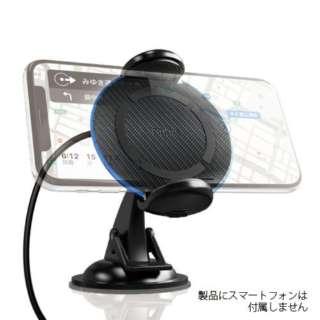 車載用ワイヤレス充電PAD Qi対応 10W充電対応 RK-PAQ11K カーボン調 [USB給電対応 /ワイヤレスのみ]