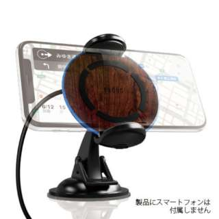車載用ワイヤレス充電PAD Qi対応 10W充電対応 RK-PAQ11M 木目調 [USB給電対応 /ワイヤレスのみ]