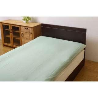 【敷ふとんカバー】リバーシブル敷き布団カバー ダブルサイズ(145×215cm グリーン/ライトグリーン)