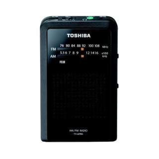 TY-APR4 携帯ラジオ ブラック [AM/FM /ワイドFM対応]