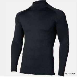 メンズ ゴルフ 長袖ベースレイヤー UAコールドギアフィッティドロングスリーブモック(XLサイズ/Black×Rhino Gray)1327516 001