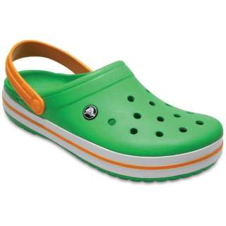 23.0cm 男女兼用 サンダル Crocband(M5W7:Grass Green/White/Blazing Orange)11016-3R4