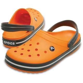 27.0cm 男女兼用 サンダル Crocband(M9W11:Blazing Orange/Slate Grey)11016-82N