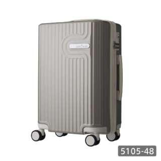 TSAロック搭載 機内持込対応サイズ ダブルキャスター装備 パステルカラー ジッパーキャリー 5105-48 グレー【35L(1~2泊) 3.0kg】 5105-48-GY グレー [(約)35L]