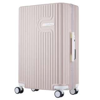TSAロック搭載 無料受託手荷物対応サイズ ダブルキャスター装備 パステルカラー フレームキャリー 5105-60 ピンク【56L(3~5泊) 4.3kg】 5105-60-PK ピンク [(約)56L]