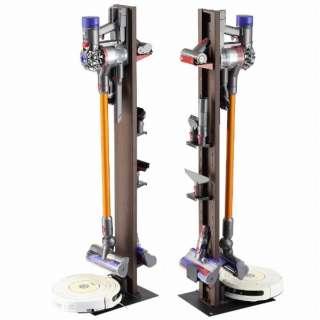 WALL ウォール ダイソン専用クリーナースタンド + ロボット掃除機設置機能付き クリーナースタンド本体 + 専用棚板セット ウォールナット