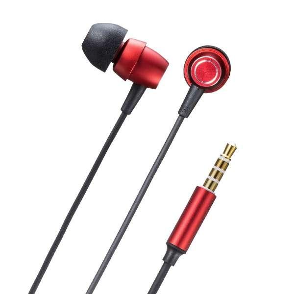 MM-HS707R ヘッドセット レッド [φ3.5mmミニプラグ /両耳 /イヤホンタイプ]