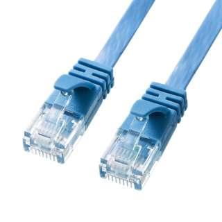 KB-FL6A-10BL LANケーブル ブルー [10m /カテゴリー6A /フラット]
