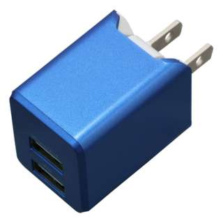AC充電器+Lightningケーブル 1m PREMIUM ブルー BU2ULAN3410BL [2ポート]