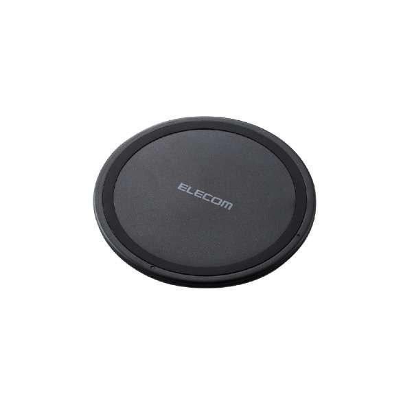 ワイヤレス充電器[Qi対応] 5W 薄型 卓上 ブラック W-QA03XBK [ワイヤレスのみ]