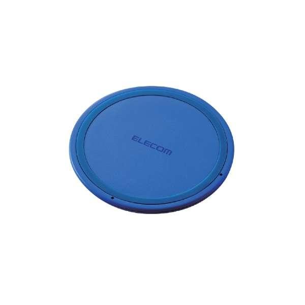 ワイヤレス充電器[Qi対応] 5W 薄型 卓上 W-QA03XBU ブルー [USB給電対応 /ワイヤレスのみ]