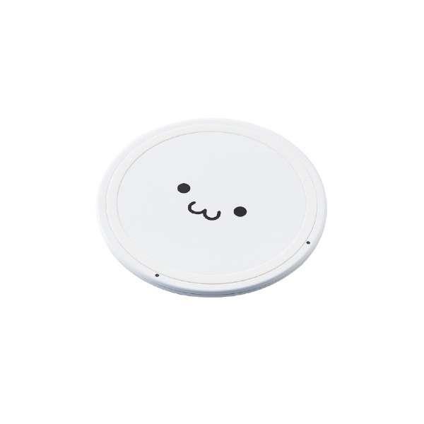 ワイヤレス充電器[Qi対応] 5W 薄型 卓上 W-QA03XWF ホワイトフェイス [USB給電対応 /ワイヤレスのみ]