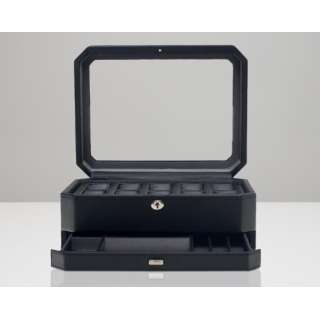 WINDSOR 10 PIECE WATCH BOX WITH DRAWER 4586029 ブラック