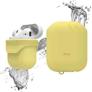 elago(エラゴ) AirPods WaterProof Case(ケース) for AirPods EL_APDCSSCWC_CY Creamy Yellow