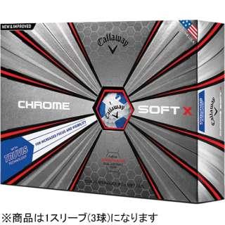 【スリーブ単位販売になります】ゴルフボール CHROME SOFT《1スリーブ(3球)/ブルー》 【オウンネーム非対応】