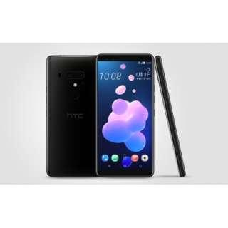 【防水・防塵・おサイフケータイ】HTC U12+セラミックブラック Snapdragon 845 6型 メモリ/ストレージ: 6GB/128GB nanoSIM ドコモ/au/ソフトバンクSIM対応 SIMフリースマートフォン