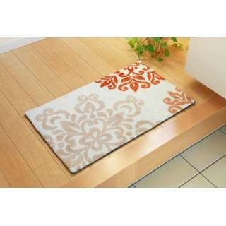 玄関マット ニール(45×75cm/オレンジ)
