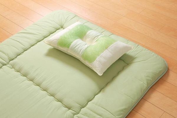イケヒコ ピロー 高さを選べる ヒバエッセンス使用 森の眠りひば枕B 約43×63×14cm 普通 1個
