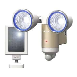3W×2灯LEDソーラーセンサーライト S-65L [白色 /ソーラー式]