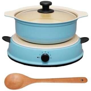 卓上型IH調理器 鍋セット 「HashTAG(ハッシュタグ) Induction cooker & pot」(1口) HT-IC11S-AG アッシュグリーン  【ビックカメラグループオリジナル】