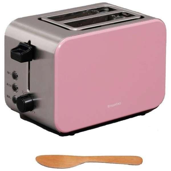 ポップアップトースター 「HashTAG(ハッシュタグ) Pop-up toaster」(4~8枚切・2枚) HT-PT11-AR アッシュレッド 【ビックカメラグループオリジナル】