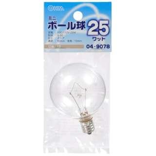 LB-G5225-C 電球 クリア [E12 /電球色 /1個 /ボール電球形]