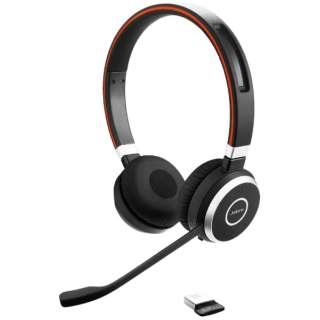 100-98500000-99 ヘッドセット Jabra Evolve 65 [ワイヤレス(Bluetooth)+有線 /両耳 /ヘッドバンドタイプ]