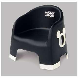 ミッキーマウス ララチェア ブラック ブラック