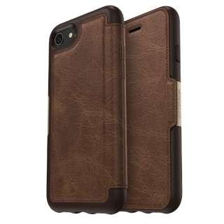 シンメトリーシリーズ レザー Folio for iPhone8/7 Espresso 77-56770 Espresso レザー手帳型ケース 77-56770 Espresso