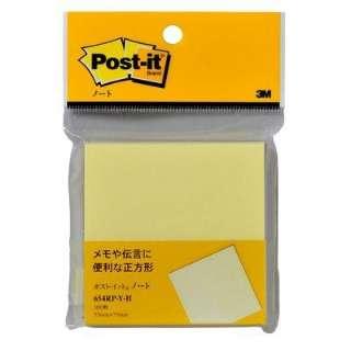 [付箋]ポスト・イット ノート 再生紙(75×75mm・100枚) 654RP-Y-H イエロー