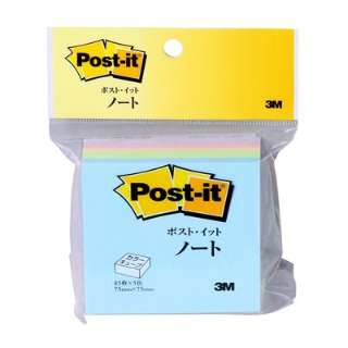 [付箋]ポスト・イット カラーキューブ レギュラー スクエア(75×75mm・225枚) CP-33 パステルカラー