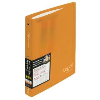 ロジカルバインダーノート ワイド(B5・A罫・20枚) BN-B502A-OR オレンジ