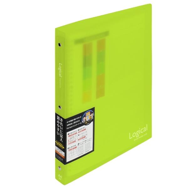 ロジカルバインダーノート ワイド(A4・A罫・20枚) BN-A402A-G グリーン