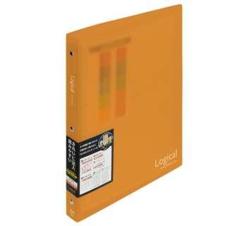 ロジカルバインダーノート ワイド(A4・A罫・20枚) BN-A402A-OR オレンジ