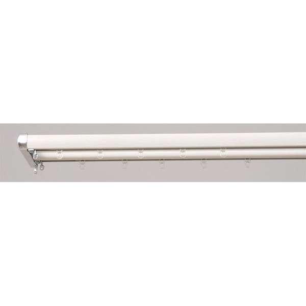 装飾レール ロアール 2m用(120-200cm) ダブル 木目ホワイト