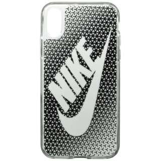 iPhone X用 NIKE GRAPHIC SWOOSH ケース DG0027-010F ブラック/ホワイト