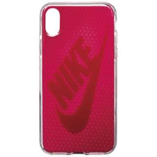 iPhone X用 NIKE GRAPHIC SWOOSH ケース DG0027-922F ラッシュピンク/レッドクラッシュ