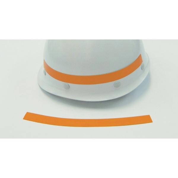 日本緑十字社 緑十字 ヘルメット用弓型ラインテープ(反射)オレンジ20幅×26010本組 235144