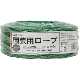 Dio 園芸用ロープ 緑 太さ2mmX長さ100m
