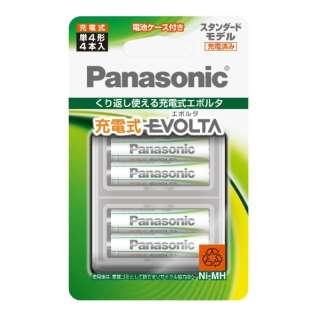 BK-4MLE/4BC 単4形 充電池 EVOLTA(エボルタ)スタンダードモデル [4本]