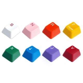 Cherry MX軸対応交換用キーキャップフルセット(白/赤)