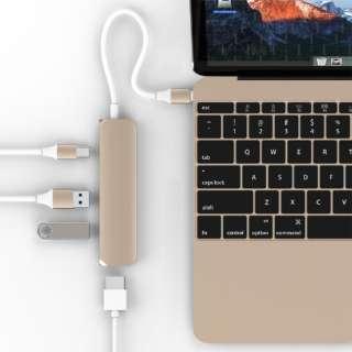 GN22B USBハブ  ゴールド