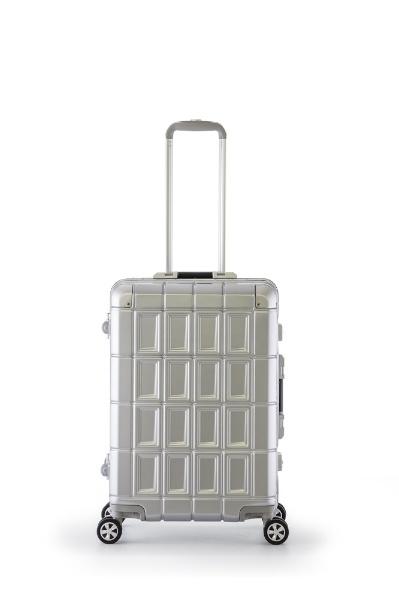 スーツケース ハードキャリー 70L PANTHEON(パンテオン) シルバー PTR-3300-24 [TSAロック搭載]