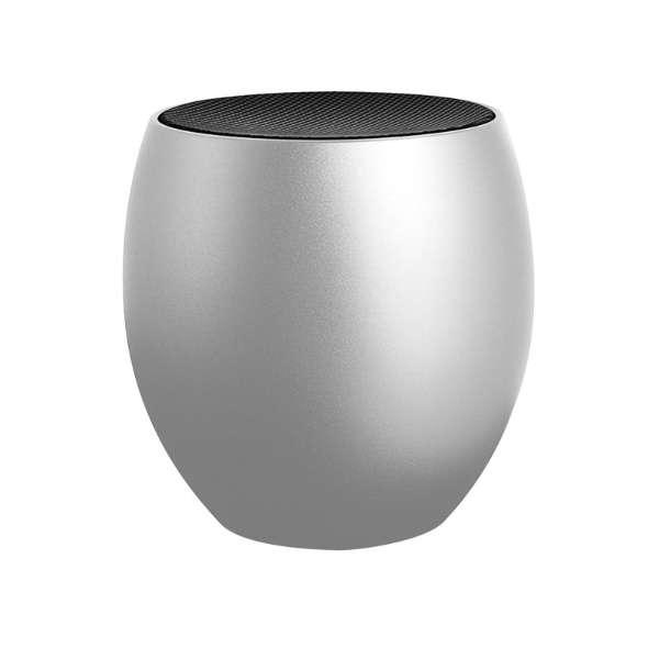 LP-SPBT06SV ブルートゥース スピーカー eggi(エッジィ) シルバー [Bluetooth対応]