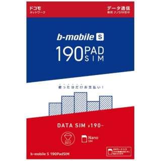 ナノSIM「ドコモ版 b-mobile S 190PadSIM」 データ通信専用 BM-PSDN [SMS非対応 /ナノSIM]