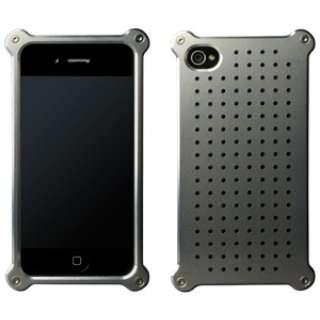 iPhone 4/4S用 アルミジャケット タイプ08 ショットブラストモデル MA-4J08-S シルバー