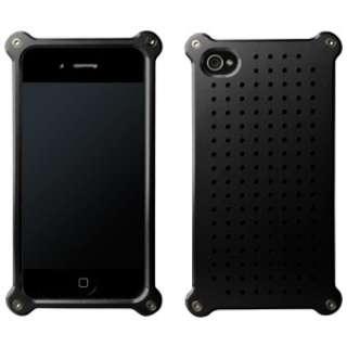 iPhone 4/4S用 アルミジャケット タイプ08 ヘアラインモデル MA-4J08-BKH ブラック